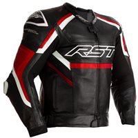 RST Tractech Evo R CE Leather Jacket 2461 (Black/Red)