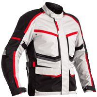 RST Maverick CE Textile Jacket 2361 (Silver/Black/Red)