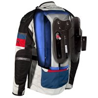 RST Pro Series Adventure-X Airbag CE Textile Jacket 2972 (Ice Blue/Red)
