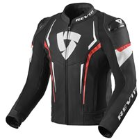 Revit Leather Jacket Glide (Black|Neon Red)