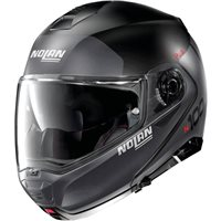 Nolan N100-5 Plus Distinctive N-Com Flip Front Helmet (Flat Black/Grey)