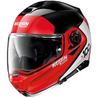 Nolan N100-5 Plus Distinctive N-Com Flip Front Helmet (Gloss Black/Red)