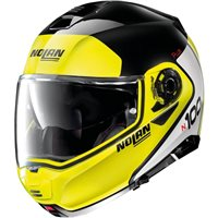Nolan N100-5 Plus Distinctive N-Com Flip Front Helmet (Gloss Black/Yellow)