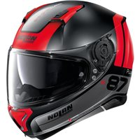 Nolan N87 Plus Distinctive N-Com Helmet (Flat Black/Red)