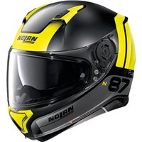 Nolan N87 Plus Distinctive N-Com Helmet (Flat Black/Yellow)