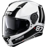 Nolan N87 Plus Distinctive N-Com Helmet (Metal White)