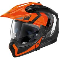 Nolan N70-2X Decurio N-Com Helmet (Flat Black/Orange)