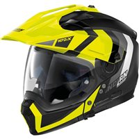 Nolan N70-2X Decurio N-Com Helmet (Flat Black/Yellow)