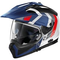 Nolan N70-2X Decurio N-Com Helmet (Metal White/Blue/Red)