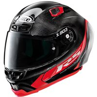 X-Lite X-803 Ultra Carbon RS Hot Lap Helmet (Carbon/Red)