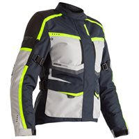 RST Maverick Ladies CE Textile Jacket 2492 (Blue/Silver/Neon)