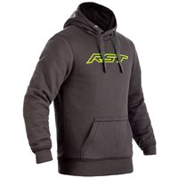 RST Pullover Kevlar CE Mens Textile Hoodie 2412 (Grey/Lime)