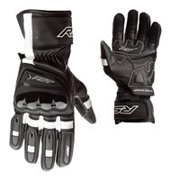 RST Pilot CE Motorcycle Gloves 2404 (Black/White)
