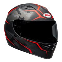 Bell Qualifier Stealth Camo Helmet (Matte Black/Red)