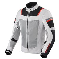 Revit Tornado 3 Textile Motorcycle Jacket (Silver|Black)