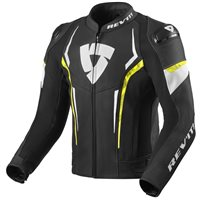 Revit Leather Jacket Glide (Black/Neon Yellow)