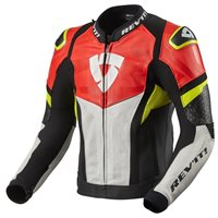 Revit Leather Jacket Hyperspeed Air (Black/Neon Red)