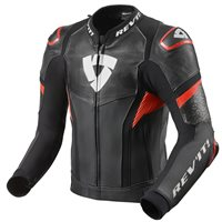 Revit Leather Jacket Hyperspeed Pro (Black/Neon Red)