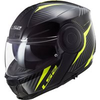 LS2 FF902 Scope Skid Flip Front Helmet (Black|Yellow)