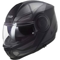 LS2 FF902 Scope Axis Flip Front Helmet (Black|Titanium)