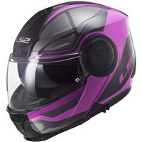 LS2 FF902 Scope Axis Flip Front Helmet (Black|Pink)