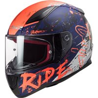 LS2 FF353 Rapid Naughty Helmet (Matt Blue| Flo Orange)