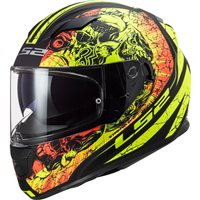 LS2 FF320 Stream Evo Throne Helmet (Matt Black|Yellow)