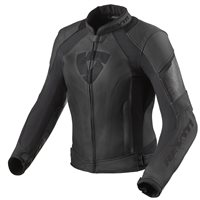 Revit Xena 3 Womens Leather Motorcycle Jacket (Black)
