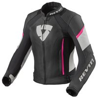 Revit Xena 3 Womens Leather Jacket (Black|Pink)