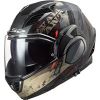 LS2 FF900 Valiant II Gripper Flip Front Helmet (Matt Anitique Gold)