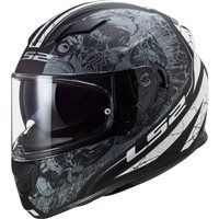 LS2 FF320 Stream Evo Throne Helmet (Matt Black/Titanium)
