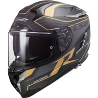 LS2 FF327 Challenger C Grid Carbon Helmet (Antique Gold)