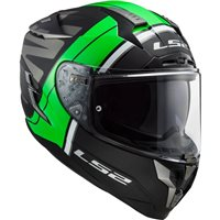 LS2 FF327 Challenger Randy Helmet (Matt Black/Gloss Green)