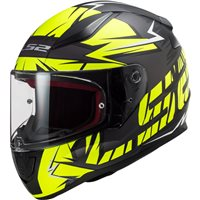 LS2 FF353 Rapid Cromo Helmet (Matt Black/Hi-Vis Yellow)