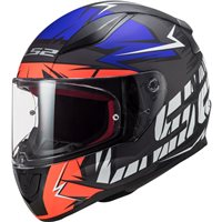 LS2 FF353 Rapid Cromo Helmet (Matt Fluo Orange/Blue)
