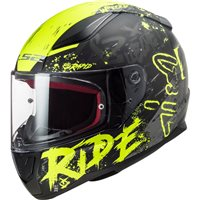 LS2 FF353 Rapid Naughty Helmet (Matt Black/Hi Vis Yellow)
