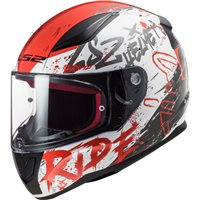 LS2 FF353 Rapid Naughty Helmet (White/Red)