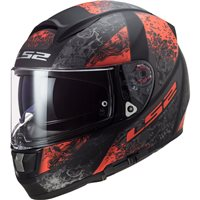 LS2 FF397 Vector Evo Swipe Helmet (Matt Black/Red)