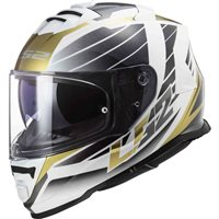 LS2 FF800 Storm Nerve Helmet (White/Antique Gold)