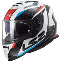 LS2 FF800 Storm Racer Helmet (White/Blue/Red)