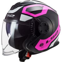 LS2 OF570 Verso Marker Open Face Helmet (Matt Black/Violet)