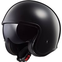 LS2 OF599 Spitfire Open Face Helmet (Black)