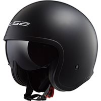 LS2 OF599 Spitfire Open Face Helmet (Matt Black)
