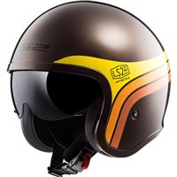 LS2 OF599 Spitfire Sunrise Open Face Helmet (Brown/Orange/Yellow)