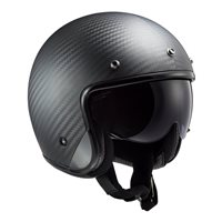 LS2 OF601 Bob Carbon Open Face Helmet (Matt Carbon)