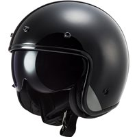 LS2 OF601 Bob Open Face Helmet ( Black)