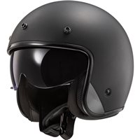 LS2 OF601 Bob Open Face Helmet (Matt Black)
