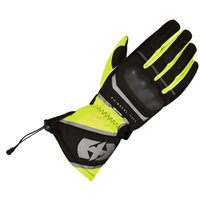 Oxford Montreal 1.0 Motorcycle Gloves (Black/Fluo Yellow )