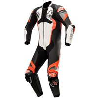 Alpinestars Atem v4 One Piece Leathers (White/Black/Red/Grey)