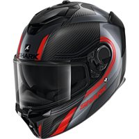Shark Spartan GT Carbon Tracker Helmet (Carbon/Anthracite/Red)